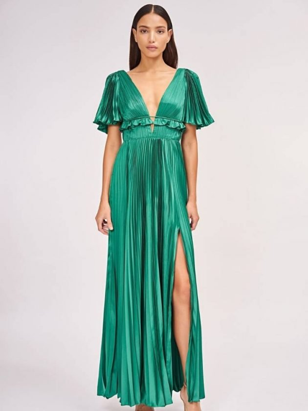 Green sustainable dress from Amur