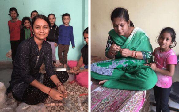 Fair Trade artisans making jewelry