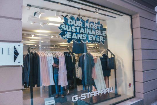 G Star Sustainable Fashion in Lucerne Switzerland