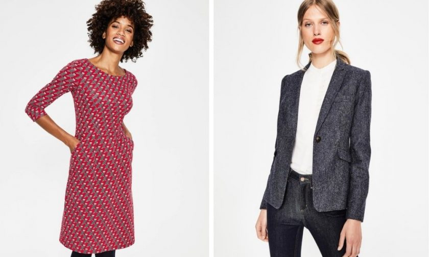 Boden women's dresses, blazers and blouses for work