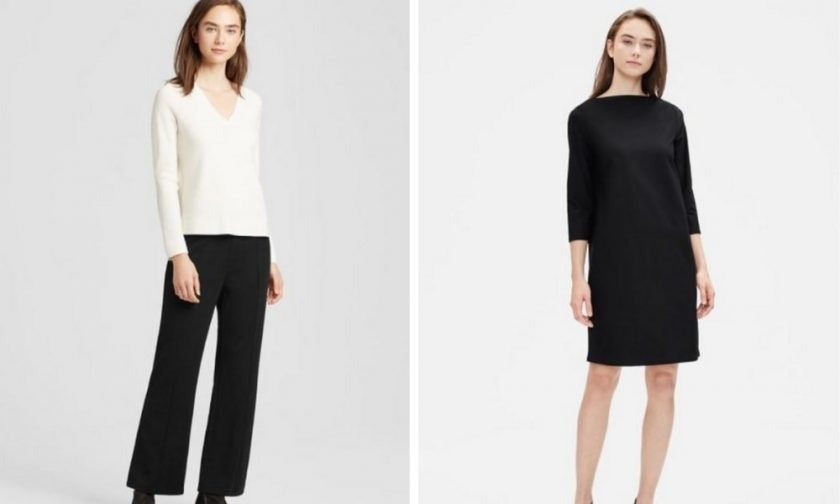 Eileen Fisher sustainable pants, dresses, and skirts for work