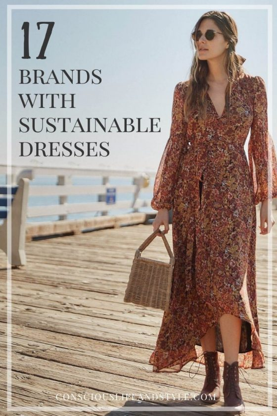 Ethical and Sustainable Dresses - Pinterest Pin