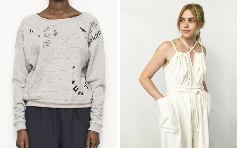 Sustainable fashion made with zero waste practices from Study NY
