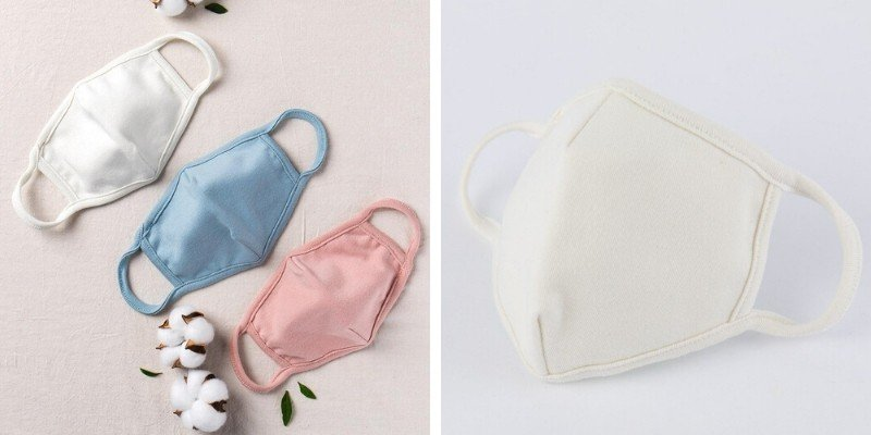 Alex and Nova organic cotton reusable masks