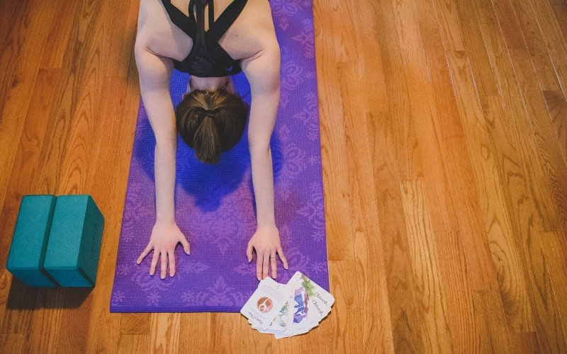 Downward Dog with Yoga Cards from OM Matters