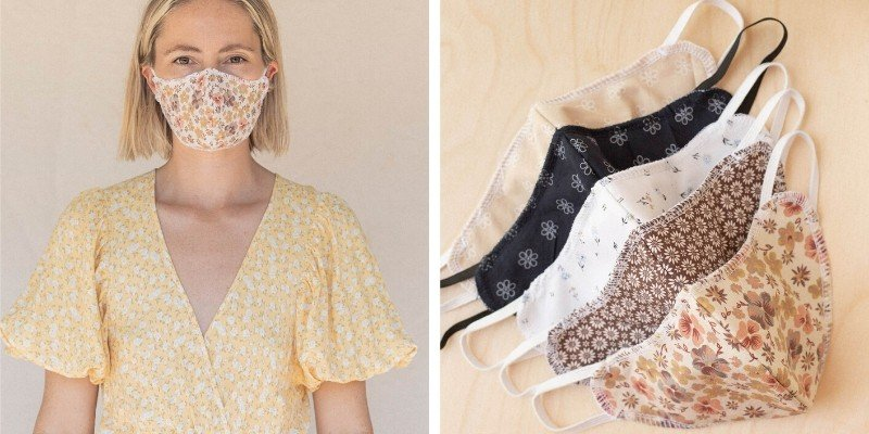 Christy Dawn sustainable cotton face masks