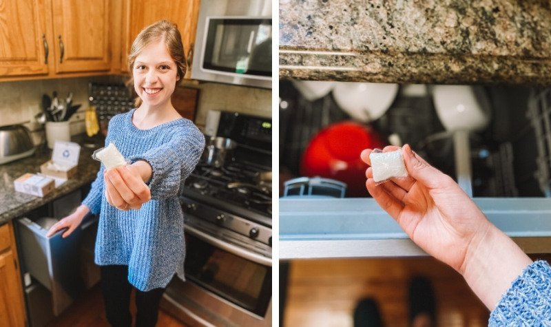 Zero waste dish detergent pods