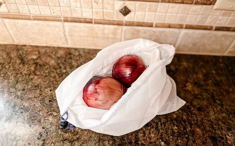 Low waste kitchen - cloth produce bags
