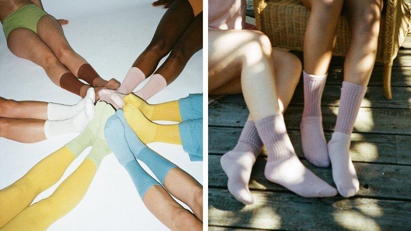 Pansy organic cotton eco-friendly socks
