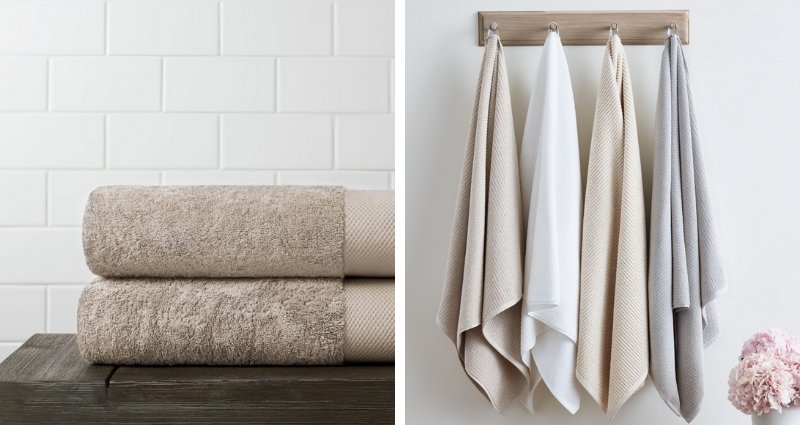 Organic cotton towels from Boll & Branch