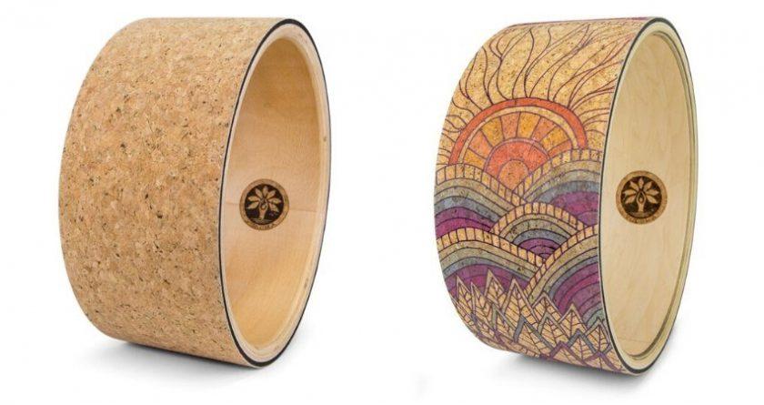 eco-friendly cork yoga wheels