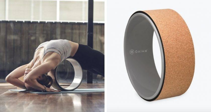 eco-friendly cork yoga wheel from Gaiam