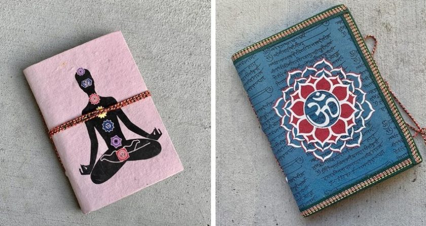 Eco friendly yoga and meditation journals