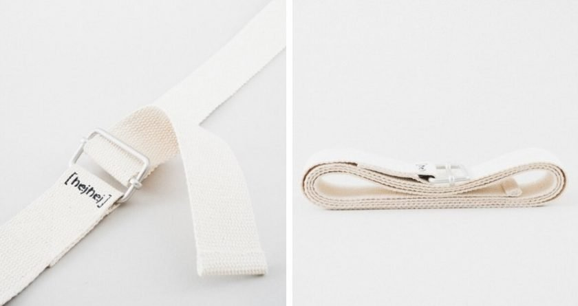 sustainable yoga straps from hejhej