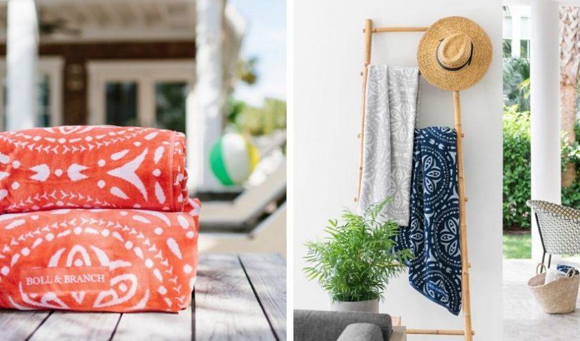 Organic, Fair Trade and GOTS-certified beach towels