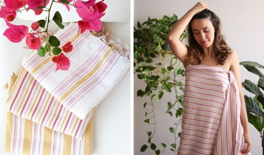 Artisan made Turkish towels for the beach