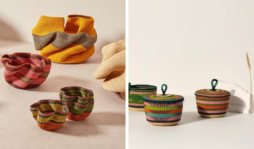 artisan made sustainable baskets from Ghana