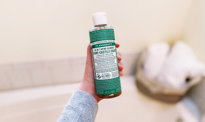 DIY all-purpose cleaner without vinegar with castile soap