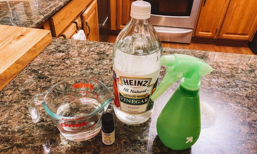 DIY all-purpose cleaner with vinegar