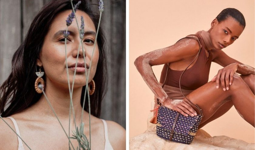 Fair Trade and Artisan Made earrings and handbag from ethical online store Accompany
