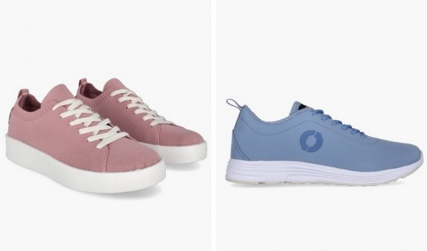 Eco-friendly vegan sneakers made from recycled materials