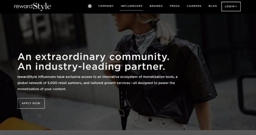 RewardStyle website screenshot
