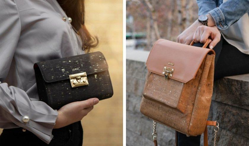Eco friendly vegan cork handbags from JORD