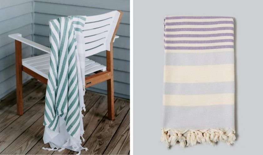 Ethically-made striped Turkish towels