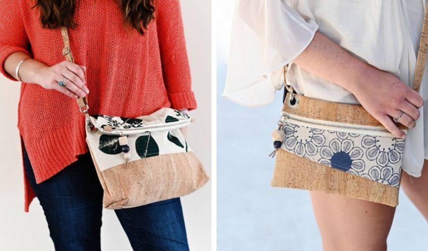 Nest pure sustainable cork handbag brand