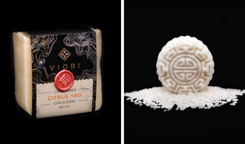 sustainable shampoo and conditioner bars made of rice