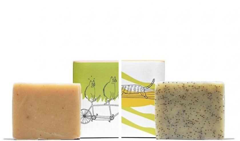 sustainable shampoo bars from Meow Meow Tweet made with natural ingredients