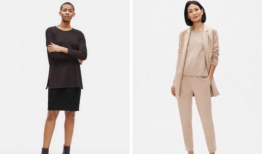 sustainable pieces from Eileen Fisher made with Tencel™ fibers