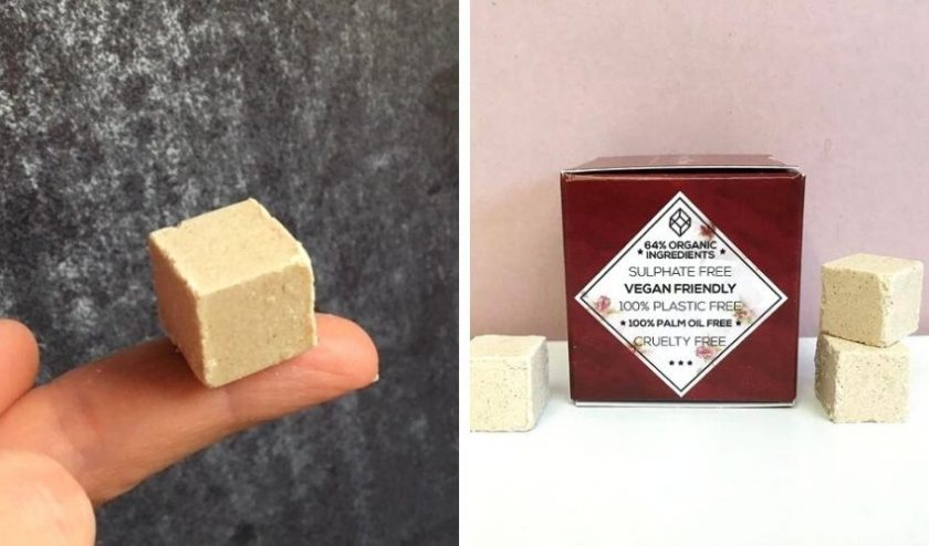 zero-waste shampoo and conditioner from Beauty cubes