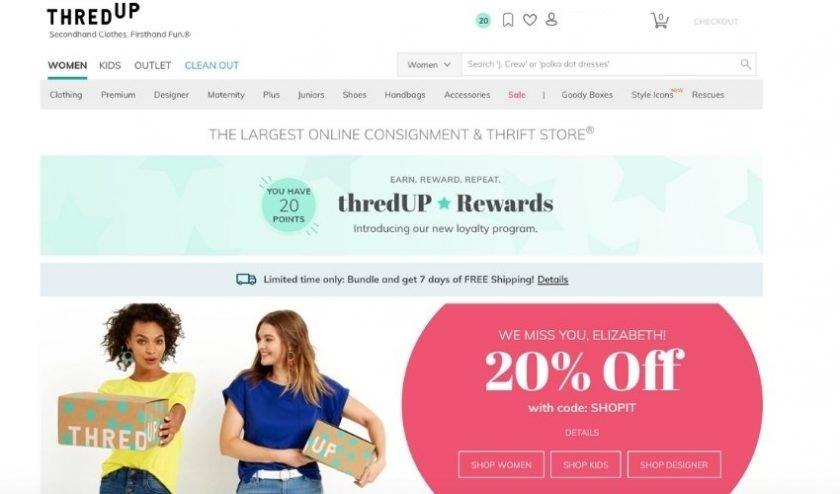ThredUP online secondhand fashion store