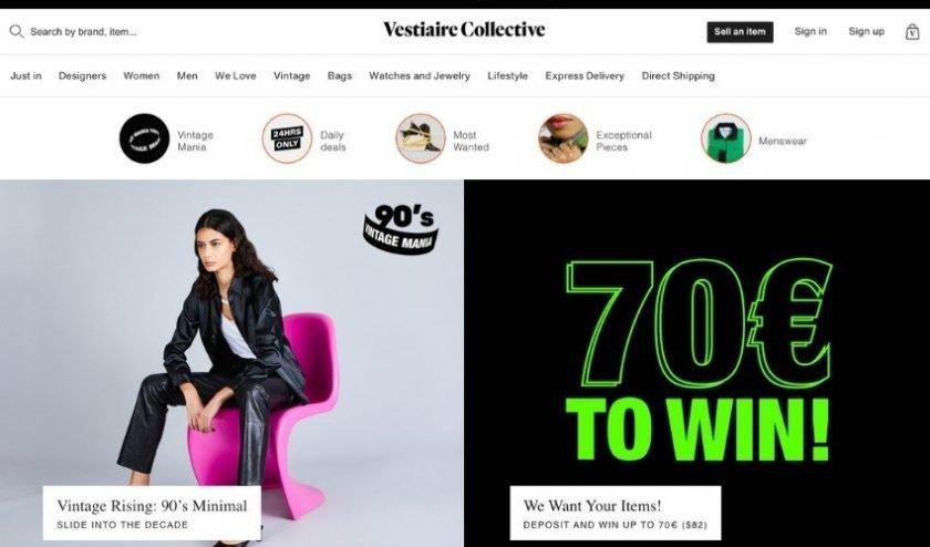 Online luxury resale website Vestaire Collective