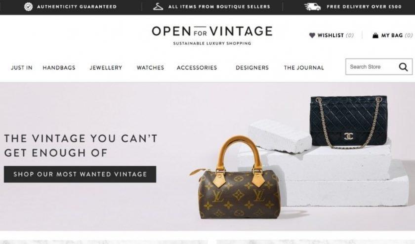 Open for Vintage designer vintage website