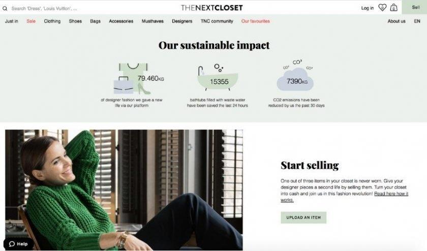 The Next Closet luxury resale site