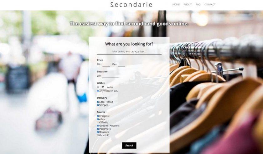 Secondarie online secondhand store aggregator