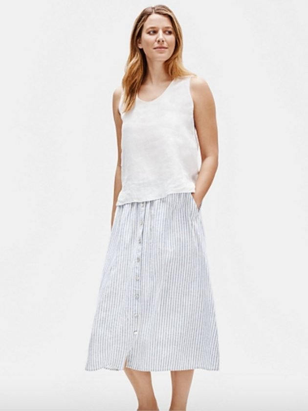 Minimalist eco-friendly hemp clothing from Eileen Fisher
