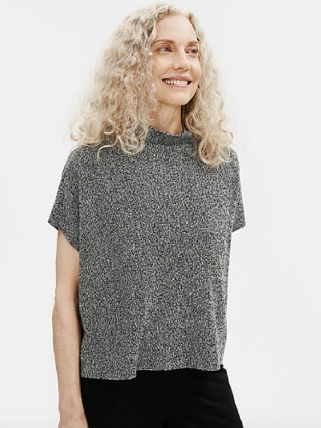 Minimalist classic sustainable sweaters from Eileen Fisher