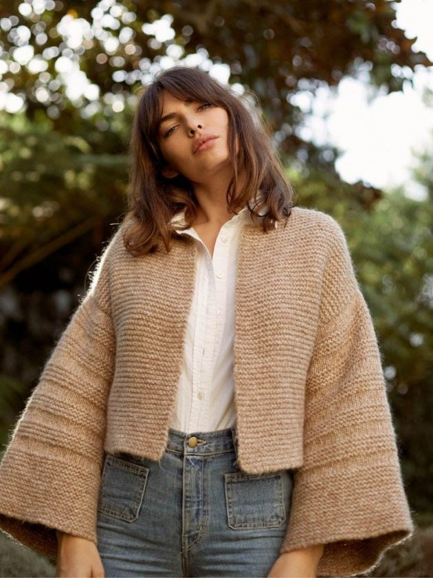 Eco-friendly recycled sweaters and cardigans from Christy Dawn
