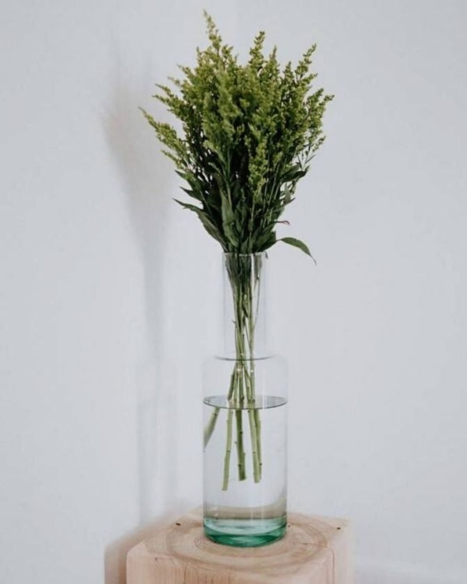 Recycled glass vases from Newly