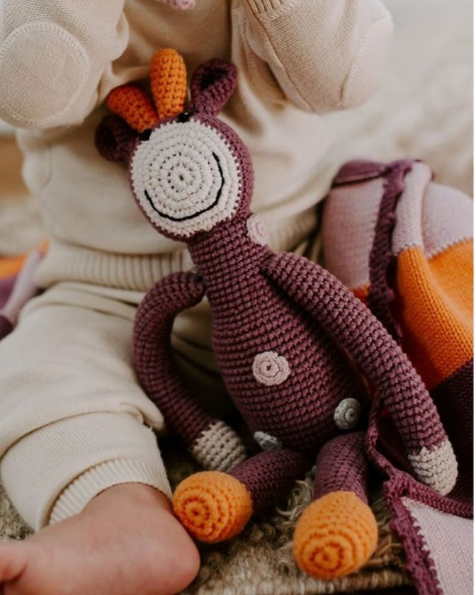 Eco-friendly stocking fillers for babies - organic rattle