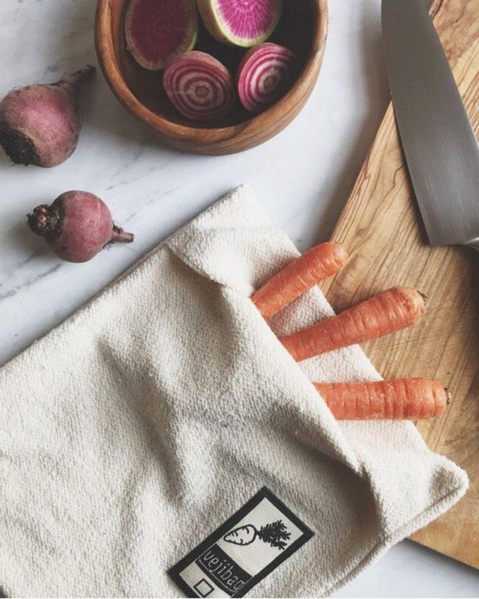Sustainable stocking fillers - organic veggie bag