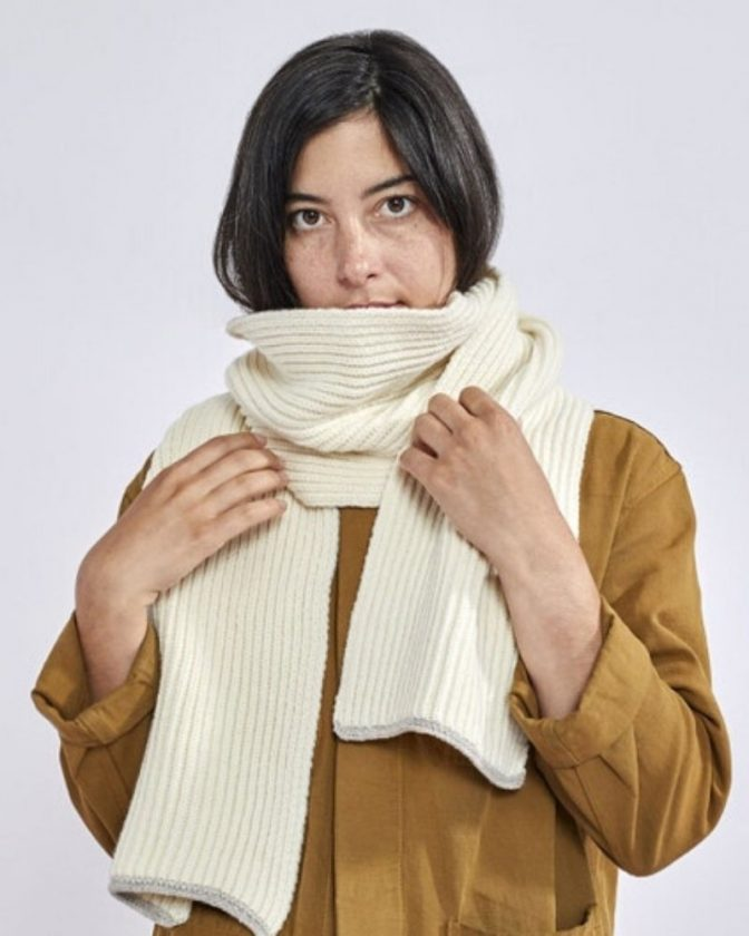 Sustainable wool scarf gift from Coyuchi