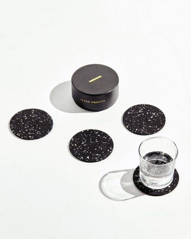 Eco friendly gift: recycled coasters from Slash Objects