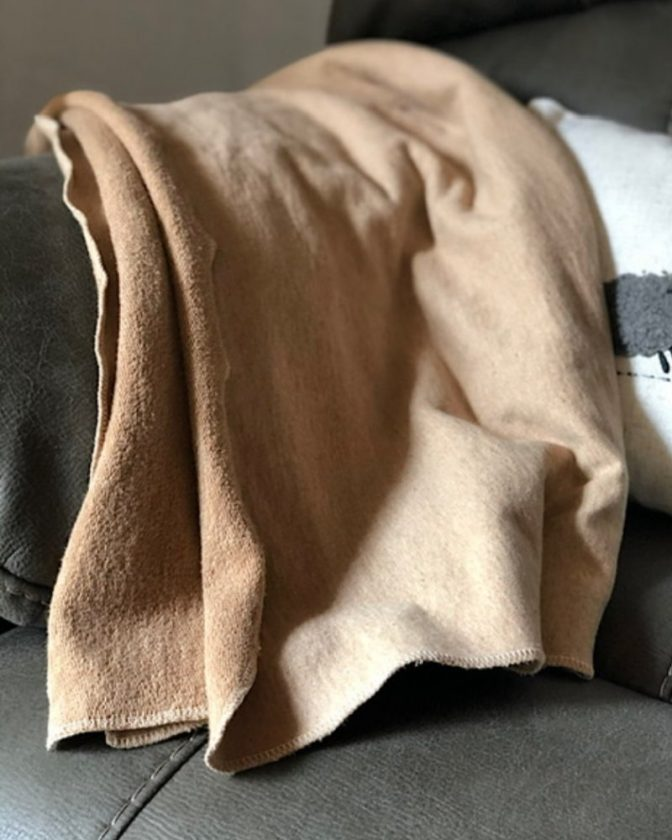 Regenerative organic throws and blankets from Fibershed Marketplace