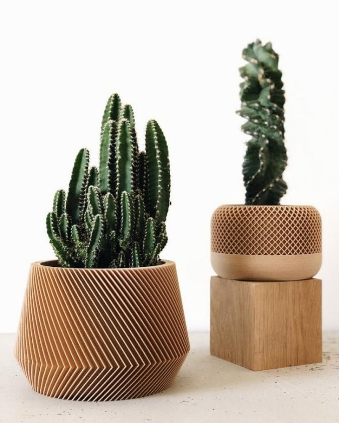 Eco-friendly planters made from natural and recycled materials from MinimumDesign