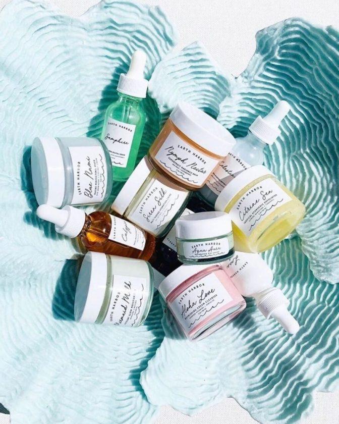 Non-toxic and zero waste skincare brand Earth Harbor Naturals