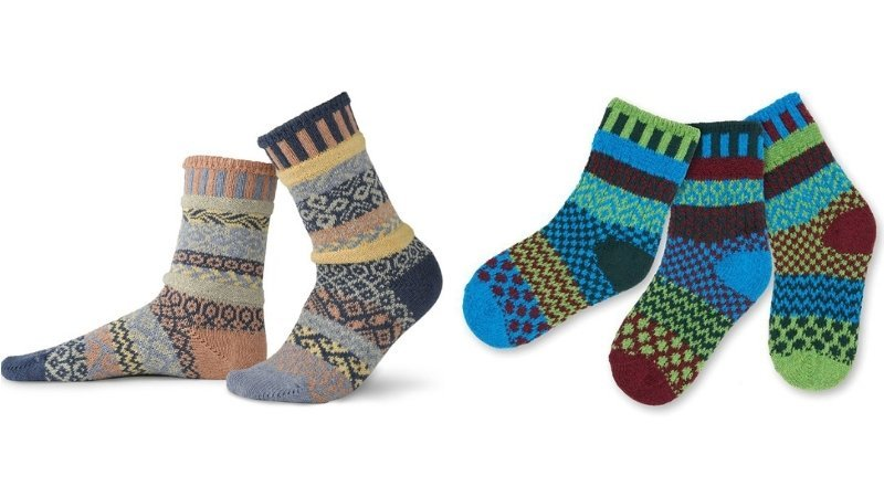 Sustainable recycled socks from Solmate Socks